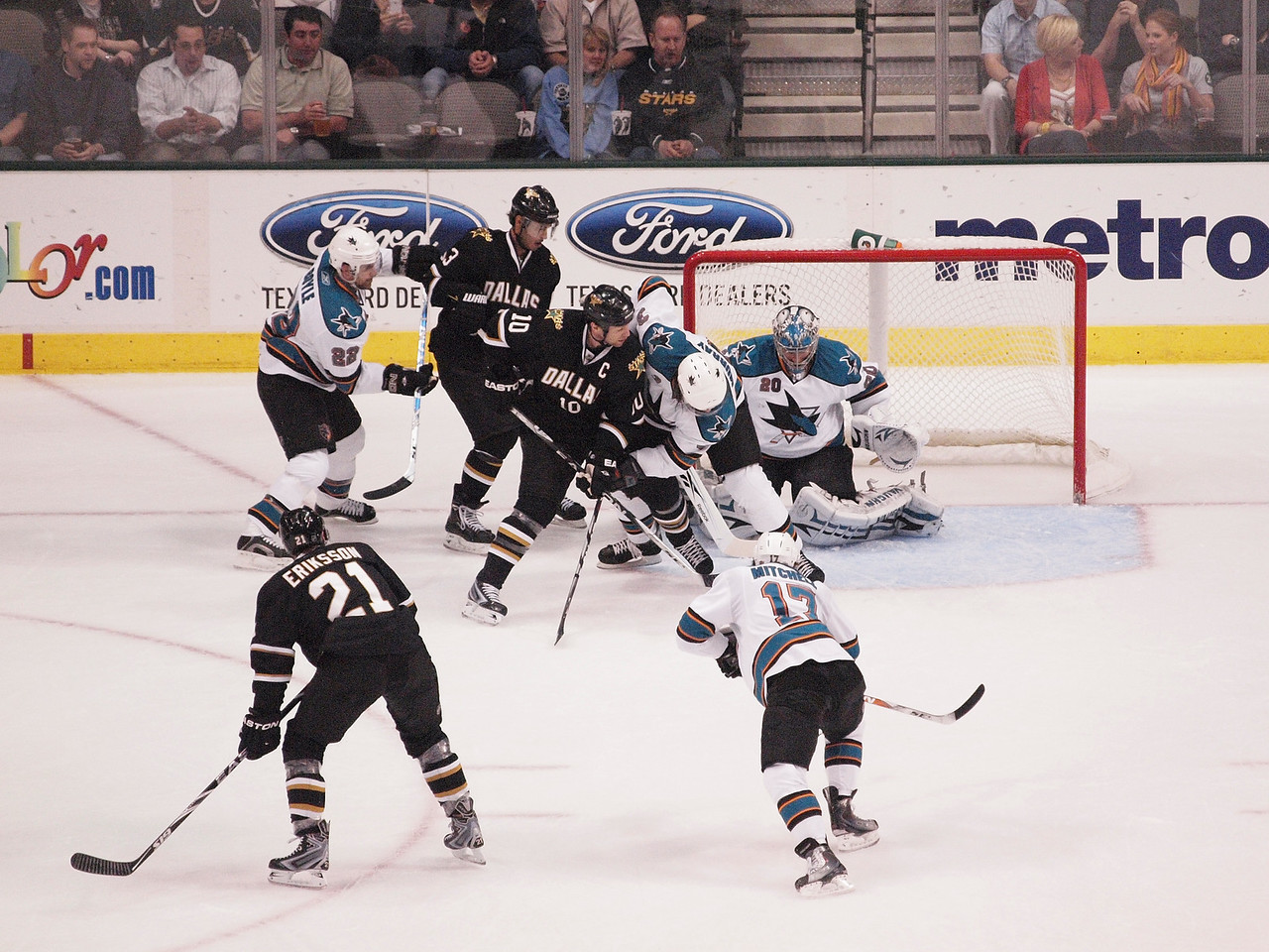 Dallas Stars vs. San Jose Sharks, March 31, 2010