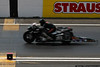 Flashing across the line on a Pro Stock Bike.