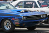 Looks like this Challenger inhaled a Chevy on the way to the starting line!