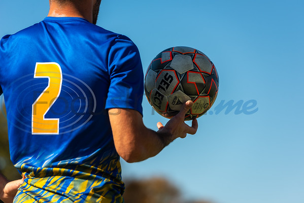 Illinois Central College's Felix Schuster (2) holds the ball on the sidelines during tournament action against Arizona Western College in the NJCAA Division I Men's Soccer Championship Tuesday, Nov. 19, 2019, at Pat Hartley Soccer Complex at Tyler Junior College in Tyler. (Cara Campbell/Tyler Morning Telegraph)