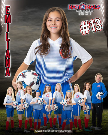 Emiliana Door Sign Nationals Macomb 09 Black 2018-2019