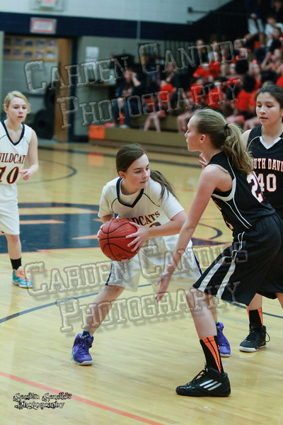 Wildcats Girls vs South Davie 1-27-14-027