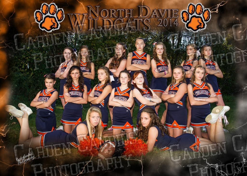 North Davie Wildcats cheer-5x7