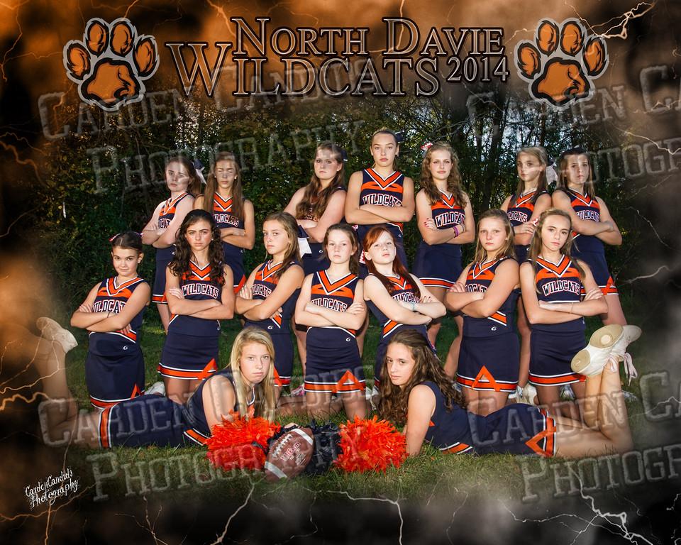 North Davie Wildcats Cheer-8x10