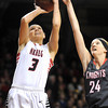NRHEG's Carlie Wagner takes a shot during the first half of the Class AA state championship game Saturday at Williams Arena. Photo by Pat Christman