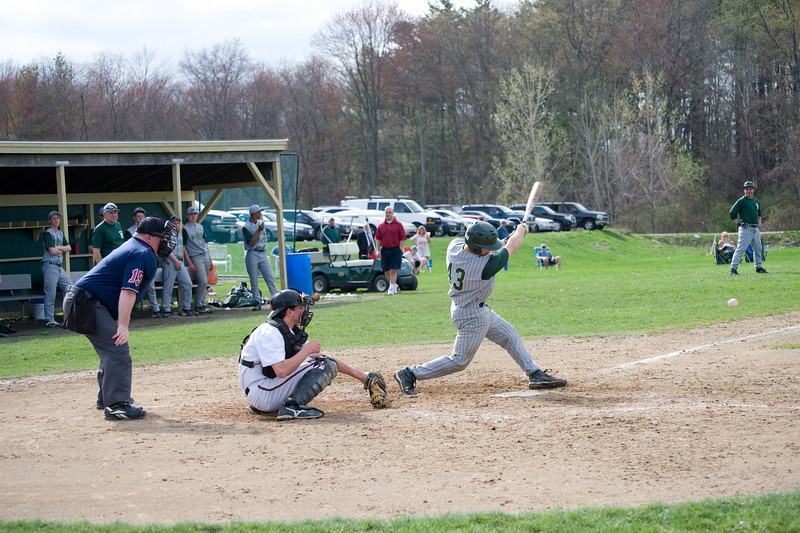 Nashoba's catcher, No 43 lines one down the third baseline