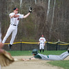 Nashoba's No 16, Sam Ashline beats the throw to second