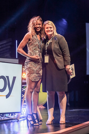 Jhala Henry receives the girls athlete of the year award during the NTSPY award ceremony on Tuesday.