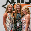 From left, Halli Trinkle, Natalie Boesing, and Zoe Libs pose for a picture at the NTSPY reception at Eastside Church on Tuesday. Staff Photos By Josh Hicks