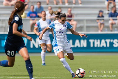 Marta (10) during a match between the NC Courage and the Orlando Pride in Cary, NC in Week 3 of the 2017 NWSL season. Photo by Lewis Gettier.