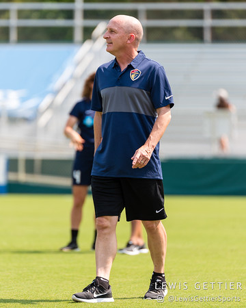 NC Courage head coach Paul Riley before a match between the NC Courage and the Orlando Pride in Cary, NC in Week 3 of the 2017 NWSL season. Photo by Lewis Gettier.