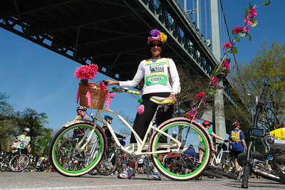 Flowered bicycle