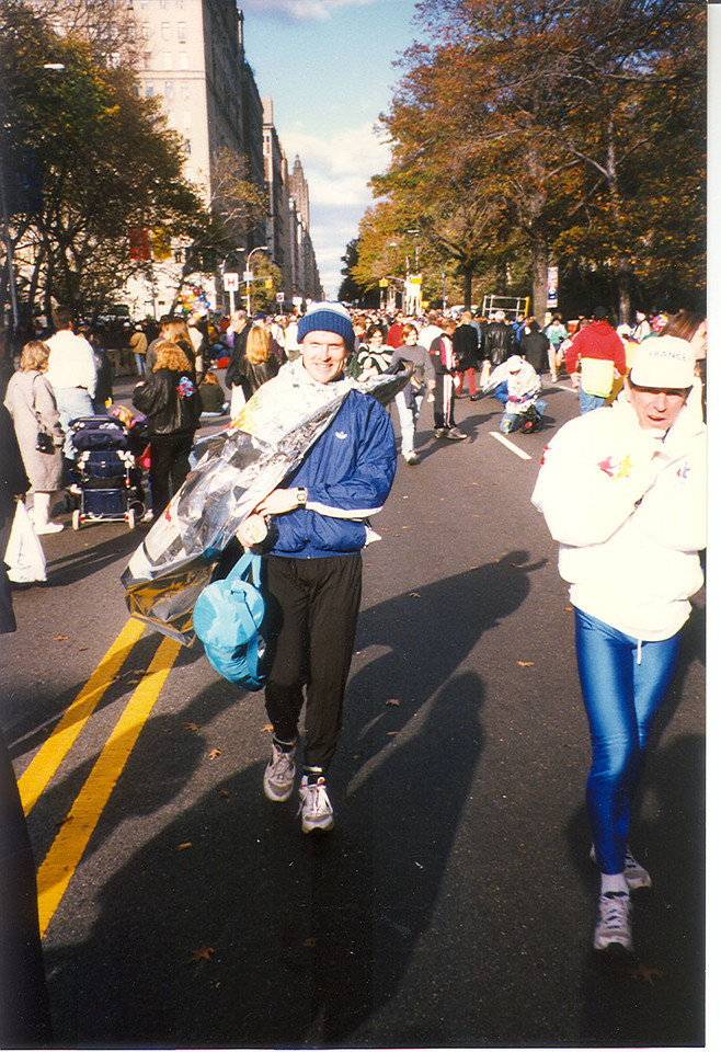 After finish of NYC Marathon.