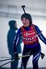 Day 6 NZ biathlon camp.  <br /> Ella Maluschnig, leaving the shooting area<br /> July 27, 2013