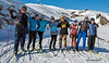 Day 3 NZ biathlon camp.  Luca with Team 2 out on the Loop trail.  Fresh snow last night.<br /> July 24, 2013