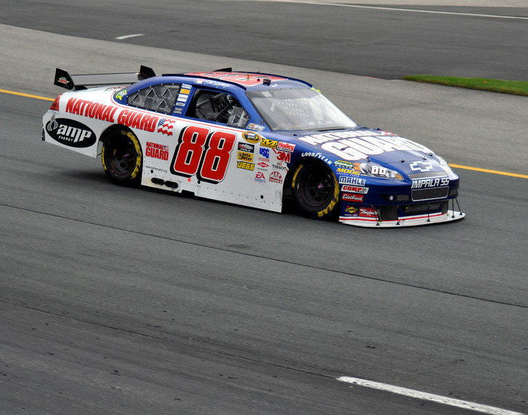 Dale Earnhardt Jr. enters turn 1, at New Hampshire Motor Speedway, during the Lennox Industrial Tools 301, on June 28th, 2009.