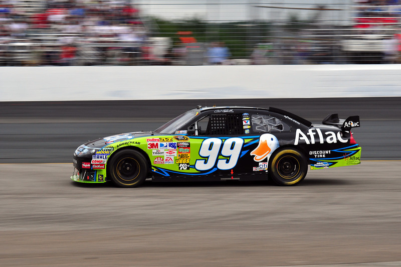 Carl Edwards shown entering the pits at New Hampshire Motor Speedway, during the Lennox Industrial Tools 301, on June 28th, 2009.