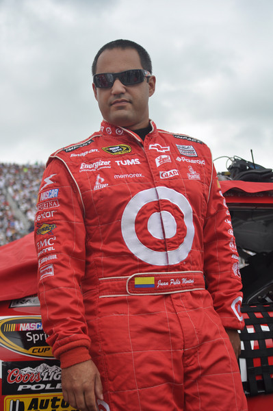 Juan Pablo Montoya shown in the pit area prior to opening ceremonies of The Sylvania 300 NASCAR Sprint Cup race, held on September 20th, 2009, at New Hampshire Motor Speedway, in Loudon, NH.