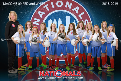 Nationals Reflections Poster 09 Macomb Girls Red and White