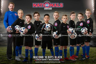 Nationals Macomb 10 Boys Black 2018-2019