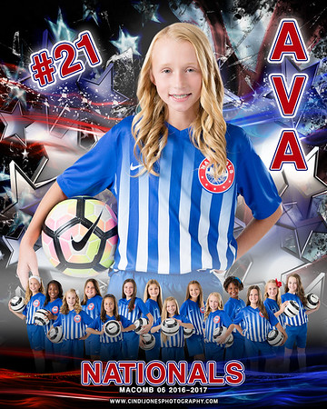 Ava 2 Nationals Door Sign Template