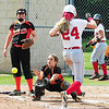 Neshannock's Alexandra Fischer beats the ball to home plate early in the game. — Tiffany Wolfe