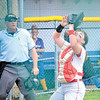 Corey J. Corbin/NEWS<br /> Neshannock catcher Marissa Kirkwood watches a pop-up into her glove.
