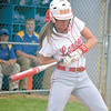 Corey J. Corbin/NEWS<br /> Neshannock's Cassidy Burrelli gets jammed by an inside pitch.
