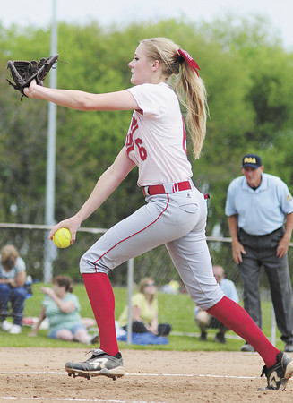 Neshannock pitcher Madison Shaffer brings the heat. — Tiffany Wolfe