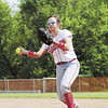 Neshannock's Marissa DeMatteo tosses a ground ball to first base. — Tiffany Wolfe