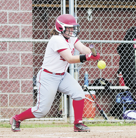 Neshannock's Marissa Kirkwood makes contact with the ball. — Tiffany Wolfe