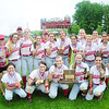 Members of the Neshannock girls softball team pose for a team photo with the championship trophy. — Tiffany Wolfe