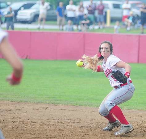 Marissa DeMatteo  makes a play at second base. — Tiffany Wolfe