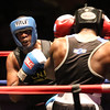New England Golden Gloves boxing Open finals. Edmond Worley of Lowell (Blue corner), left, was winner by majority decision over Edit McApman of Randolph in Heavyweight Open championship. (SUN/Julia Malakie)