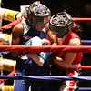 New England Golden Gloves Novice Finals. Katherine Zehr of South Portland, ME, right, won by a 3-2 decision over Kendra Prather of Hanscom AFB in 125 lb Female Novice championship.  (SUN/Julia Malakie)