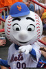 Mr. Met works the crowd.