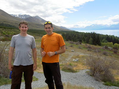 Ben and Trent in Mt Cook National Park