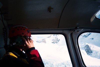 Search and Rescue member Rob. Taken during our airlift back to Mt Cook. 30 Mar 04