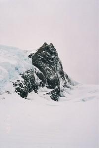 The rock that holds Tasman Saddle Hut
