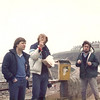 John Eccleston, Jerry Godfrey and Ian Lewis enjoy a windy Whitley Bay!