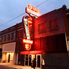 A newly remodeled neon sign lights up Main street on Saturday night at the historic Wilder's restaurant.<br /> Globe | Laurie Sisk