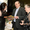 From the left: Joplin Area Chamber of Commerce Events Producer Stephanie McGrew, former President Rob O'Brian and Marge O'Brian visit during social hour at the 101st Annual Joplin Area Chamber of Commerce Banquet on Thursday night at Leggett & Platt.<br /> Globe | Laurie Sisk