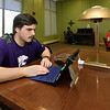 Joplin sophomore Nick Freitas studies for his microbiology class on Thursday at Missouri Southern's George A.  Spiva Library.<br /> Globe | Laurie Sisk