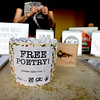 Small literary treasures await guests at a free poetry reading as part of National Poetry Month sponsored by Connect2Culture, the Post Art Library and Pub Hound Press on Thursday night at Empire Market.<br /> Globe | Laurie Sisk