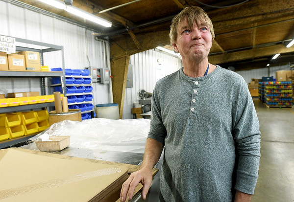 """This is home,"" an emotional Chris Gulley says Wednesday as he talks about his struggles in working outside of Joplin Workshops, Inc. Gulley was one of about 50 employees laid off after a fire closed laundry operations at the workshop.<br /> Globe 