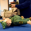 """A toy """"Sarge"""" from the popular comic strip """"Beetle Bailey"""" rests on a table during A Tribute to Mort Walker on Thursday at Crowder College. The event was part of Crowder's 76th Anniversary.<br /> Globe 