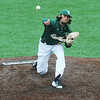 Globe/Roger Nomer<br /> Missouri Southern's Cody Hutchinson delivers a pitch during Monday's game against Lindenwood.