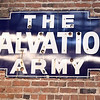 An original sign from the Salvation Army is repurposed as art, keeping the history of the Hurlbut Building alive.<br /> Globe | Laurie Sisk