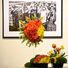 """A bouquet inspired by Carl Junction photographer Mark A. Cole's """"Solar Eclipse"""" was designed by Lamar Greenhouse and Florist designer Casey Sims and sits on display on Thursday at the Spiva Center for the Arts as part of the PhotoSpiva exhibit. Eight floral designers created companion pieces to photos on exhibit. The bouquets will be on display through Saturday.<br /> Globe 