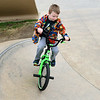 Veteran cyclist Simeon Howerton, 6, navigates a ramp at the Ewert Skate Park on Saturday. Howerton began riding his first bike at 2 years old.<br /> Globe | Laurie Sisk